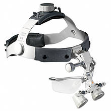 Бинокулярная лупа Heine на шлеме с защитным щитком (2,5х/420мм) С-000.32.366 Медаппаратура
