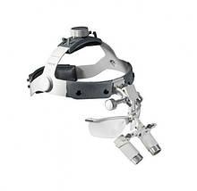Бінокулярна лупа Heine на шоломі з захисним щитком (4х/420мм) З-000.32.441 Медапаратура