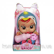 Кукла маленькая для девочек с бутылочкой и соской CRB 3360