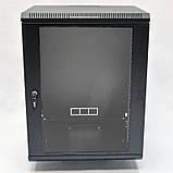 Шкаф 15U, 600х500х773 мм (Ш * Г * В), акриловое стекло, чёрный, фото 2