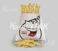 Пакет для картошки фри 110х110х30 (Белый крафт)