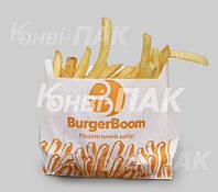 Пакет для картошки фри 130х130х30 (Бурый крафт)