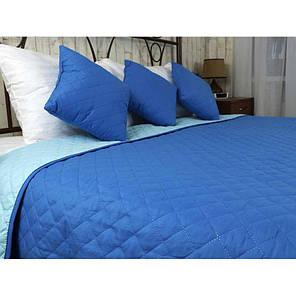 Покрывало на кровать, диван Руно Синее 150х212 двустороннее полуторное, фото 2