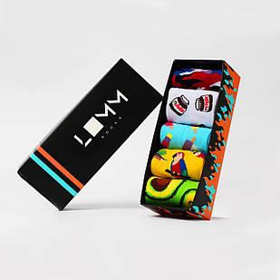 Подарочный набор коротких цветных носков в коробке Vesnyaniy Box