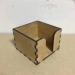 Підставка для серветок на 1 клітинку (140 х 140 мм) Колір: Дуб