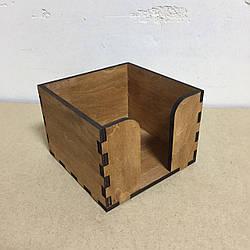 Підставка для серветок на 1 клітинку (140 х 140 мм) Колір: Горіх