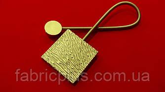 Магнит подхват для штор 38.5*5.7 см (1 шт) золото матовый