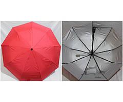 Жіночий напівавтомат зонт Антиветер 3 складання MARIO з внутрішнім малюнком Червоний