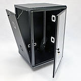 Шкаф 18U, 600х600х907 мм (Ш * Г * В), акриловое стекло, чёрный, фото 2