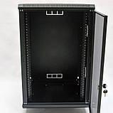 Шкаф 18U, 600х600х907 мм (Ш * Г * В), акриловое стекло, чёрный, фото 4