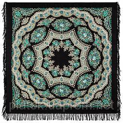 Браслет 351-22, павлопосадский платок шерстяной с шерстяной бахромой