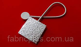 Магнит подхват для штор 38.5*5.7 см (1 шт) серебро глянцевый