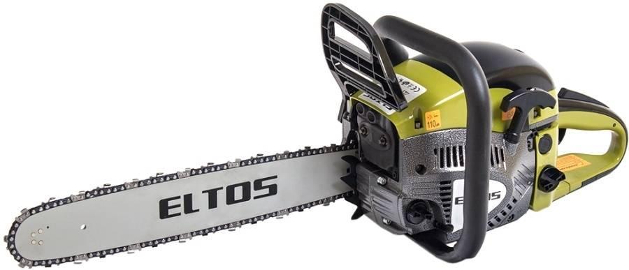 Пила бензиновая Eltos БП-63, защитный чехол, объем бака 550 мл, шина 1 шт, цепь 1 шт, длина шины 450 мм