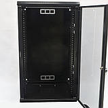 Шкаф 21U, 600х800х1040 мм (Ш * Г * В), акриловое стекло, чёрный, фото 4
