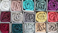 Сатиновий комплект на резинці на матрац 180*200 см Туреччина В коробці Різні кольори, фото 1