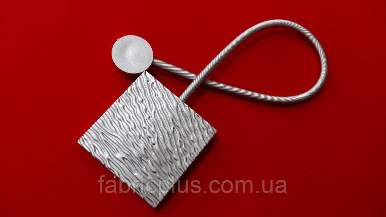 Магнит подхват для штор 38.5*5.7 см (1 шт) серебро матовый