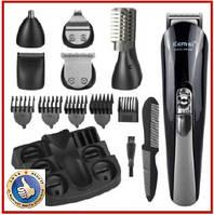 Триммер машинка для стрижки Kemei KM-600 11в1 машинка для стрижки бороды усов волос в носу и ушей