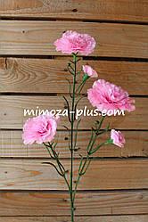 Искусственные цветы - Гвоздика ветка, 65 см