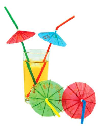 Трубочки для коктейлей с зонтиками