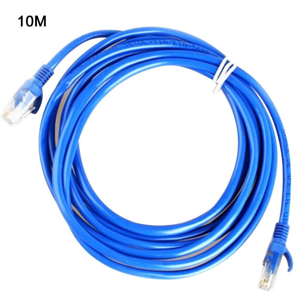 Патч корд коммутационный кабель витая пара UTP для интернета LAN 10m Синий