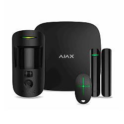 Комплект охранной сигнализации Ajax StarterKit Cam Plus Black (000019876)