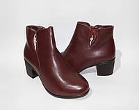 Женские ботинки весна-осень в классическом стиле на небольшом каблучке