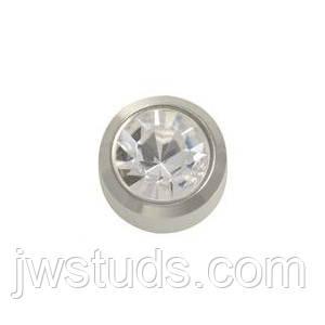 L204W STUDEX сережки медична сталь 4мм великий розмір кристал квітень