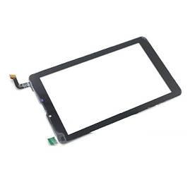 """Оригинальный Сенсор (Тачскрин) для планшета 7"""" Digma HIT 4G Plane 7.4 4G(184x104мм,31 pin) (Черный-Самоклейка)"""