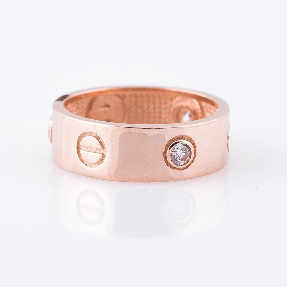 Золотое кольцо GS с фианитами