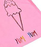 Детская розовая футболка для девочки 1-1.5 года 80-86 см, фото 3
