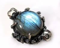 "Серебряное кольцо ""Темная луна"" с лабрадоритом от WickerRing"