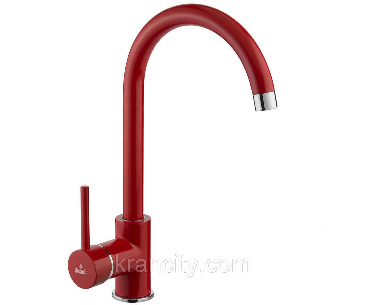 Смеситель  для кухни однорычажный  Deante Milin BEU R62M красный