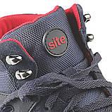 Робочі черевики шкіряні з металевим носком. Фірмові чоловічі захисні ботинкиЅІТЕ, фото 7