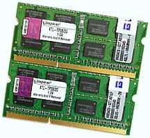 Пара оперативной памяти для ноутбука Kingston DDR3 4Gb (2Gb+2Gb) 1333MHz 10600s CL9 2R8 (KTL-TP3B/2G) Б/У