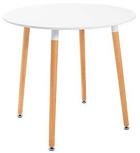 Обідній стіл круглий Richman Ксав'єр білий для кухні