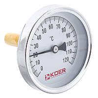 Термометр аксиальный с погружной гильзой KOER KT.671A D=63мм 1/2'' (KR2899)
