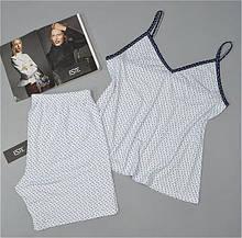 Женские пижамы больших размеров. Комплект майка и шорты из вискозы Este 702.