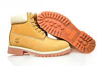 Ботинки Timberland желтые с белым реплика