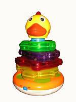 Развивающая игрушка пирамидка Музыкальный цыпленок Joy Toy 7015