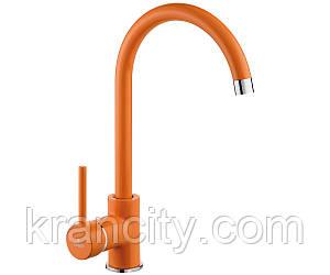 Смеситель для кухни однорычажный  Milin BEU O62M оранжевый