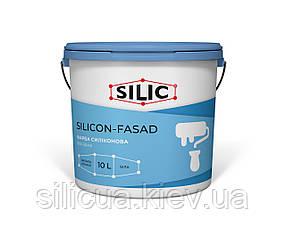 Краска силиконовая фасадная (10л) SILICON-FASAD с повышенной атмосферостойкостью