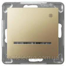 Перехресний вимикач з підсвічуванням OSPEL IMPRESJA GOLD 250V/16A OSPEL IMPRESJA ŁP-4Y/m/28 золото
