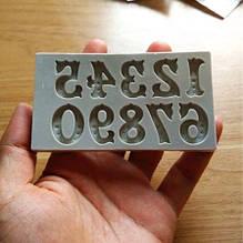 """Молд силиконовый """"Цифры"""" - размер молда 10*5*5см, силикон"""