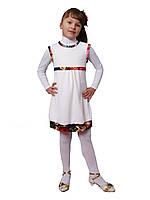 М -1020 Сарафан детский для девочки трикотажный молочный. Размеры 98. 116. 122, фото 1