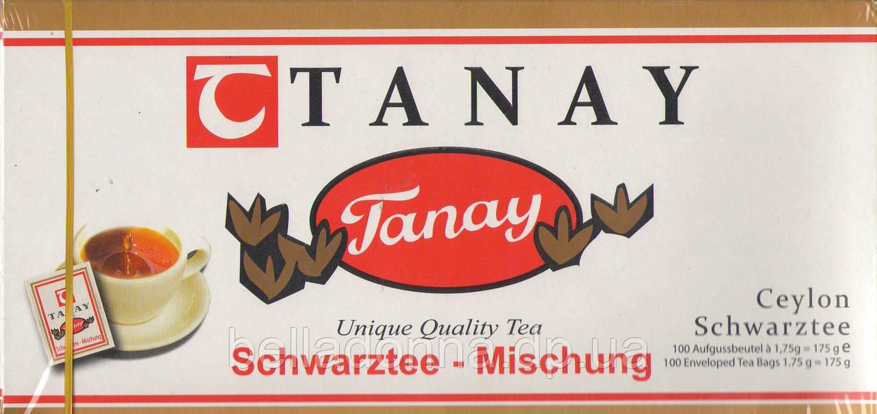 """Чай чорний цейлонський крупнолистовий Tanay """"Caylon"""" 175 г (100 пак.)"""