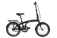 """Велосипед 20"""" Dorozhnik ONYX планет. складаний 2020 (чорний)"""
