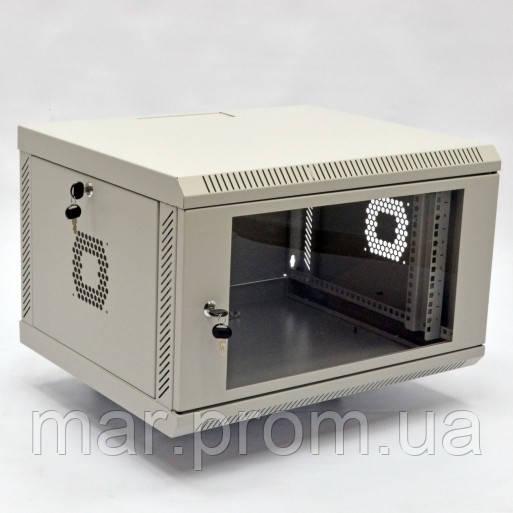 Шкаф 6U, 600х500х373 мм (Ш * Г * В), акриловое стекло, серый