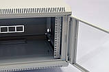 Шкаф 6U, 600х500х373 мм (Ш * Г * В), акриловое стекло, серый, фото 5