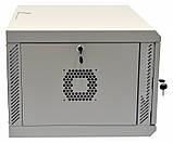 Шкаф 6U, 600х500х373 мм (Ш * Г * В), акриловое стекло, серый, фото 6