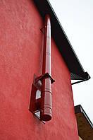 СИСТЕМА ДЫМОУДАЛЕНИЯ КАМИННОЙ ТОПКИ в доме из сип панелей (выход на фасад), фото 1